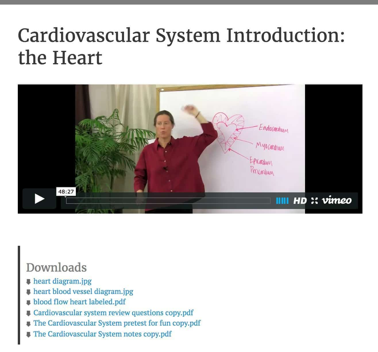 Online Anatomy And Physiology Heartstone Center For Earth Essentials Labeled Diagram Of Heart Picture Is Part Today We Give Lesson Preview Includes Downloads Diagrams Tests Ceus